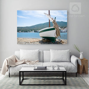 Cate Brown Photo Beached Boat  //  Nautical Photography Made to Order Ocean Fine Art
