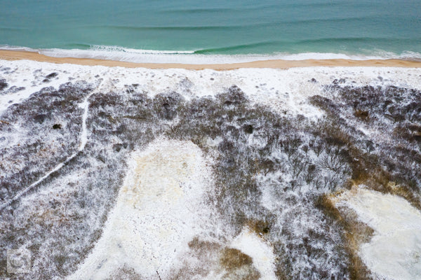 Cate Brown Photo Snow & Sea #1  //  Aerial Photography Made to Order Ocean Fine Art