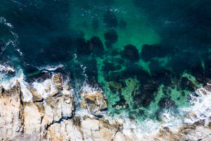 Cate Brown Photo Beavertail #8  //  Aerial Photography Made to Order Ocean Fine Art