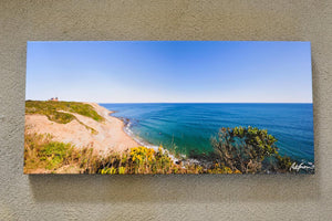 "Cate Brown Photo Southeast Light Pano // Photo on Canvas 12x26"" // Open Edition Available Inventory Ocean Fine Art"