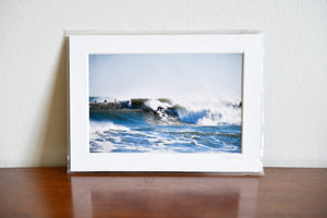 "Cate Brown Photo Seawall Surf // Matted Mini Print 5x7"" Available Inventory Ocean Fine Art"