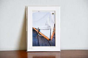 "Cate Brown Photo Covered Bow // Matted Mini Print 5x7"" Available Inventory Ocean Fine Art"