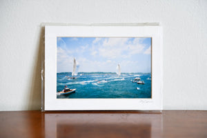 "Cate Brown Photo J Class Regatta 2011 // Matted Mini Print 5x7"" Available Inventory Ocean Fine Art"