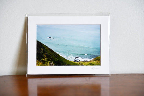 "Cate Brown Photo Sonoma Coast Highway // Matted Mini Print 5x7"" Available Inventory Ocean Fine Art"