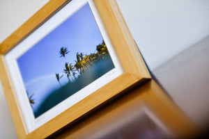 "Cate Brown Photo Palms & Rainbows // Framed Mini Print 5x7"" Available Inventory Ocean Fine Art"