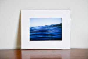 "Cate Brown Photo Blue Corduroy // Matted Mini Print 8x10"" Available Inventory Ocean Fine Art"