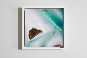 "Cate Brown Photo Aerials // Framed Metal Print 10x10"" // MULTIPLE Available Available Inventory Ocean Fine Art"