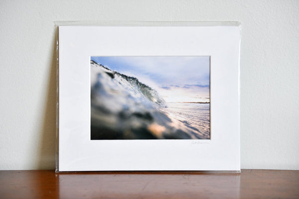 "Cate Brown Photo Icy Sunset // Matted Mini Print 8x10"" Available Inventory Ocean Fine Art"