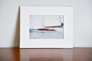 "Cate Brown Photo Amorita Sailing #2 // Matted Mini Print 8x10"" Available Inventory Ocean Fine Art"