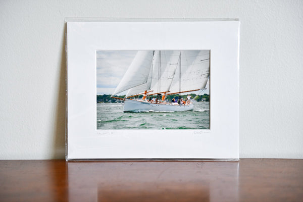 "Cate Brown Photo Adirondack II on a Green Sea // Matted Mini Print 8x10"" Available Inventory Ocean Fine Art"