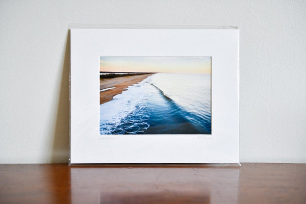 "Cate Brown Photo East Beach Aerial #6 // Matted Mini Print 8x10"" Available Inventory Ocean Fine Art"