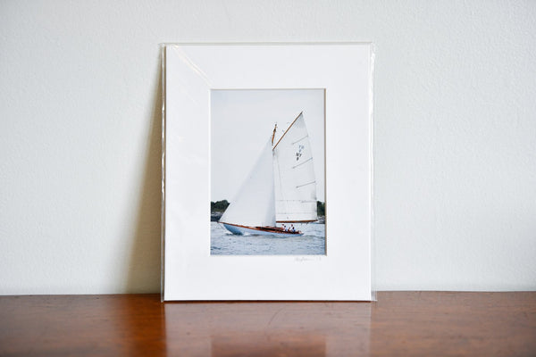 "Cate Brown Photo Amorita Sailing #1 // Matted Mini Print 8x10"" Available Inventory Ocean Fine Art"