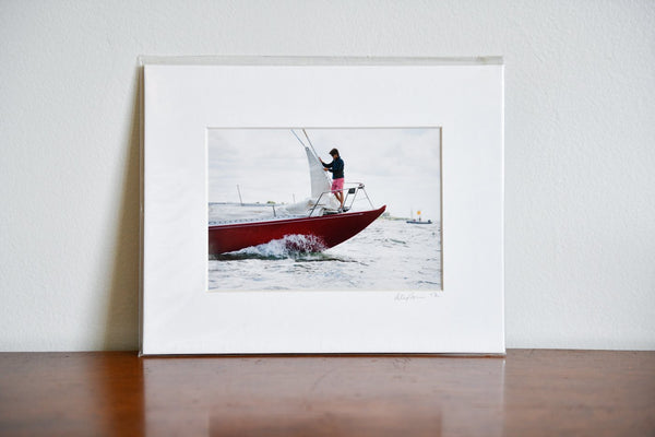 "Cate Brown Photo Bowman of American Eagle // Matted Mini Print 8x10"" Available Inventory Ocean Fine Art"
