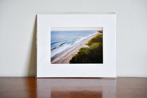 "Cate Brown Photo Ocean View from Moonstone #3 // Matted Mini Print 8x10"" Available Inventory Ocean Fine Art"