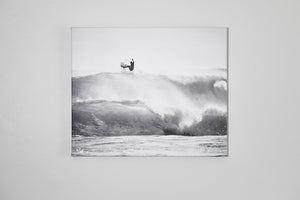 "Cate Brown Photo Surfer #4 in Silver // Photo on Canvas 20x24"" // Limited Edition Available Inventory Ocean Fine Art"