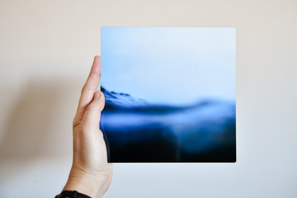 "Cate Brown Photo Bokeh Blue #8 // Metal Print 7x7"" // Limited Edition 1 of 150 Available Inventory Ocean Fine Art"
