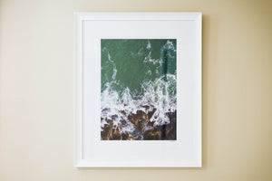 "Cate Brown Photo Hazard Aerial #1 // Framed Fine Art 20x26"" // Open Edition Available Inventory Ocean Fine Art"