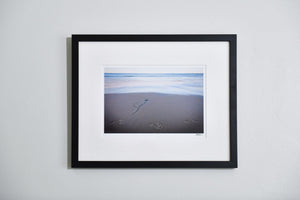 "Cate Brown Photo Footsteps at Kids Beach // Framed Fine Art 16x20"" // Open Edition Available Inventory Ocean Fine Art"