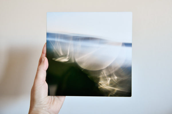 "Cate Brown Photo Bokeh Blue #1 // Metal Print 7x7"" // Limited Edition 1 of 150 Available Inventory Ocean Fine Art"