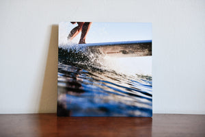 "Cate Brown Photo Allen Surfing Chris // Metal Print 7x7"" // Open Edition Available Inventory Ocean Fine Art"