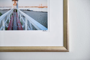 "Cate Brown Photo Brant Point Light at Dusk // Framed Fine Art 16x20"" // Open Edition Available Inventory Ocean Fine Art"