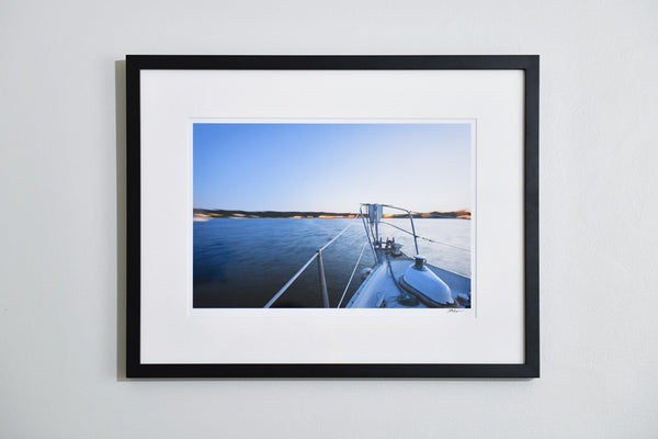 "Cate Brown Photo Moored at Dusk // Framed Fine Art 19x25"" // Open Edition Available Inventory Ocean Fine Art"