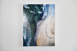 "Cate Brown Photo Narragansett Aerial #2 // Metal Print 22x30"" // Limited Edition 1 of 50 Available Inventory Ocean Fine Art"