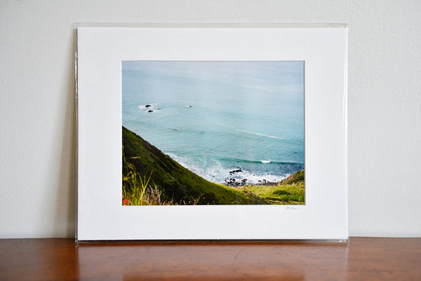 "Cate Brown Photo Sonoma Coast Highway // Matted Mini Print 11x14"" Available Inventory Ocean Fine Art"