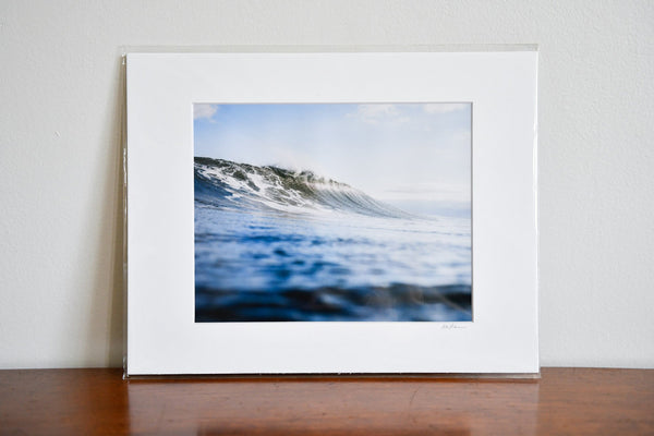 "Cate Brown Photo Canadian Blue // Matted Mini Print 11x14"" Available Inventory Ocean Fine Art"