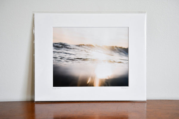 "Cate Brown Photo Matunuck Winter Gold // Matted Mini Print 11x14"" Available Inventory Ocean Fine Art"