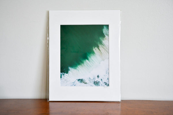 "Cate Brown Photo East Beach Aerial #17 // Matted Mini Print 11x14"" Available Inventory Ocean Fine Art"