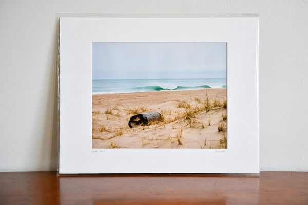 "Cate Brown Photo Turquoise and Sand // Matted Mini Print 11x14"" Available Inventory Ocean Fine Art"