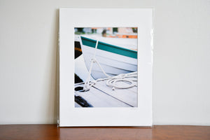 "Cate Brown Photo Tied Up Bow // Matted Mini Print 11x14"" Available Inventory Ocean Fine Art"