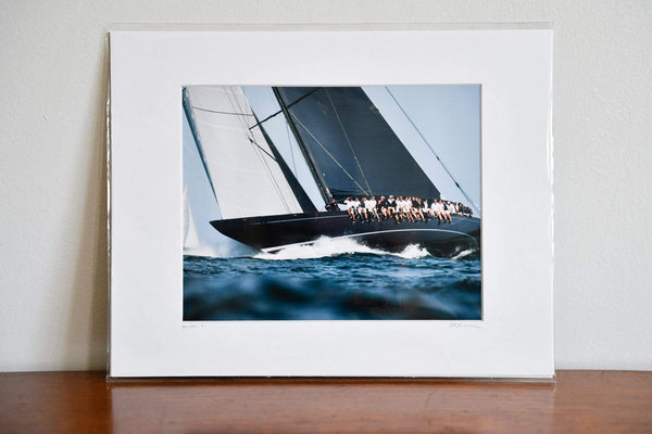 "Cate Brown Photo Lionheart Upwind // Matted Mini Print 11x14"" Available Inventory Ocean Fine Art"