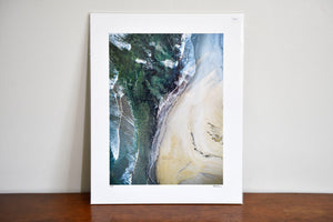 "Cate Brown Photo Narragansett Aerial #2 // Fine Art Print 12x16"" // Limited Edition 3 of 150 Available Inventory Ocean Fine Art"