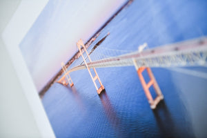 "Cate Brown Photo Newport Bridge at Dusk Aerial // Fine Art Print 12x16"" // Open Edition Available Inventory Ocean Fine Art"