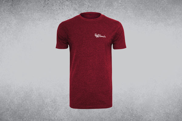 Mens Round-neck T-shirt with Small Words
