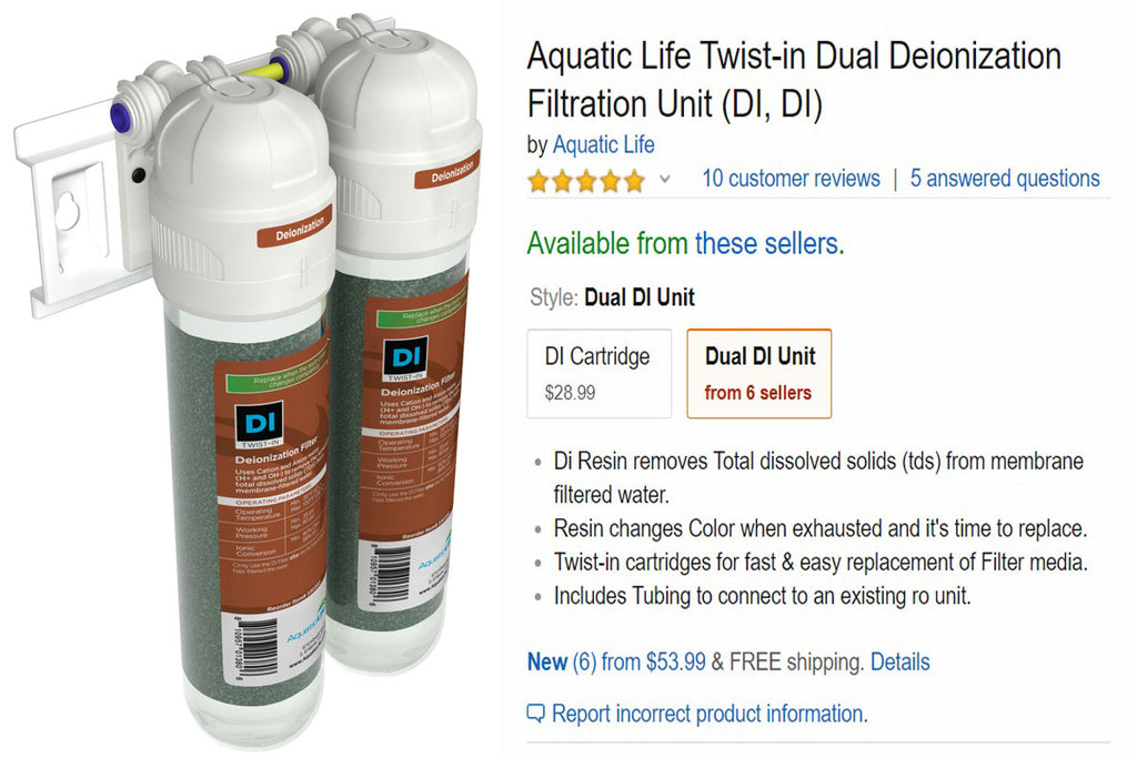 Only 5-Star Reviews on Our Twist-In Dual Deionization Filtration Unit!