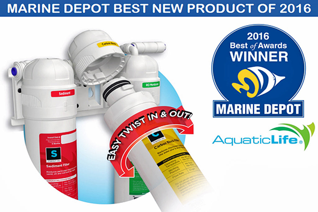 Marine Depot Awards Aquatic Life's Twist-In RO/DI System Best New Product of 2016!