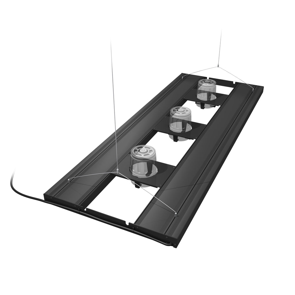 Aquatic Life T5 HO Hybrid 4-Lamp Mounting System Fixture, Black 48-Inch
