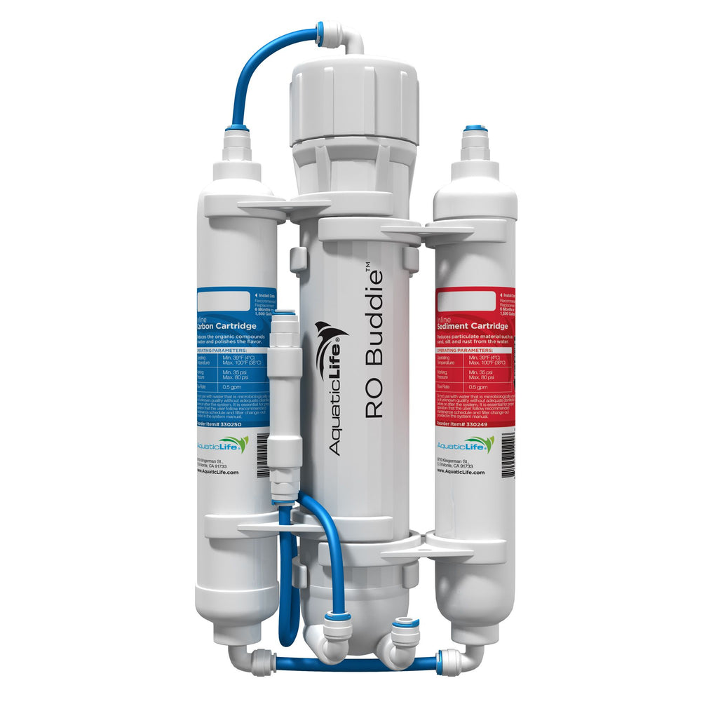 Aquatic Life RO Buddie 3 & 4-Stage Compact Reverse Osmosis Systems & Cartridges