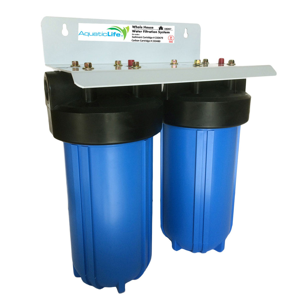 Blue 2-Stage Whole House Filter Systems, ¾-Inch NPT
