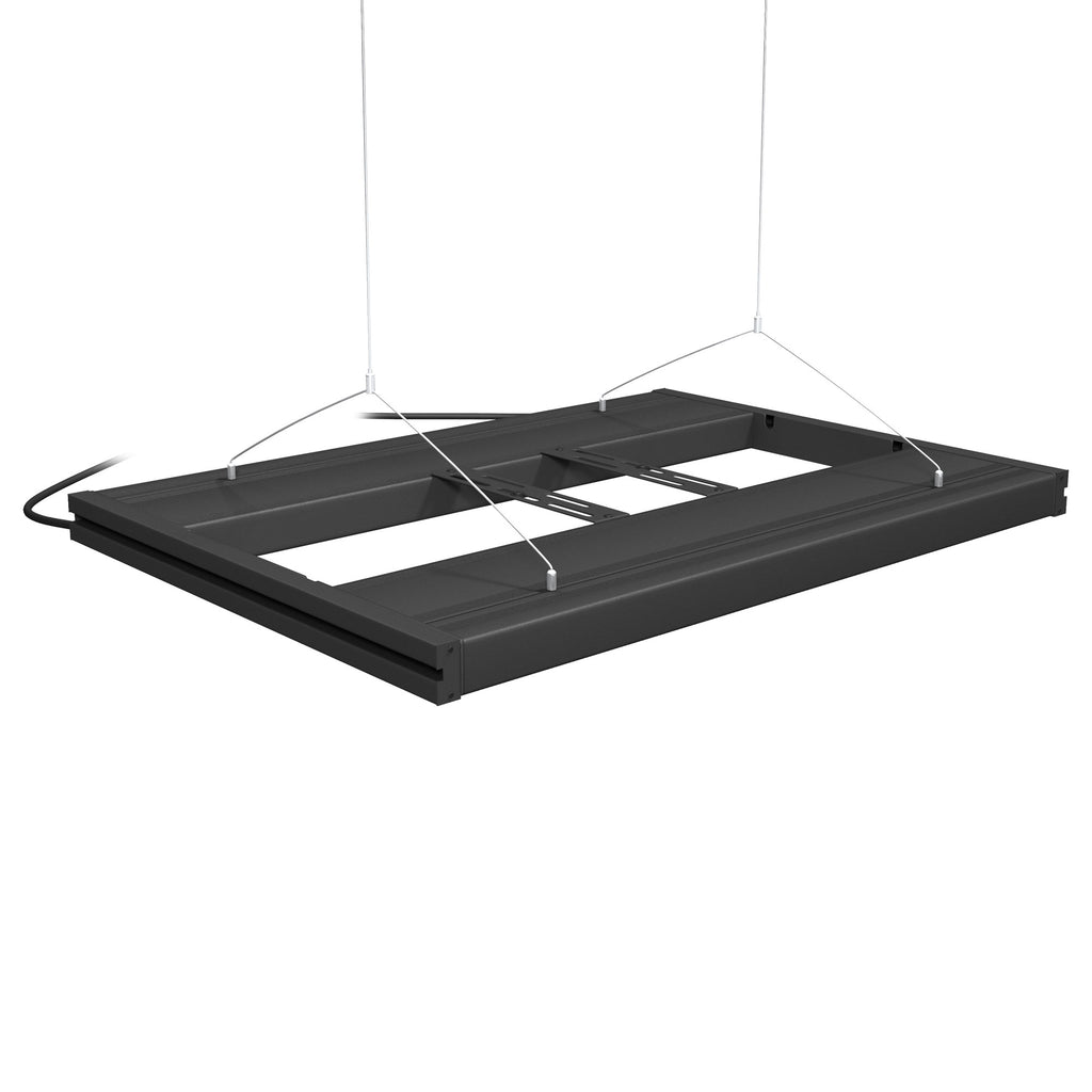 Aquatic Life G2 T5 HO Hybrid 4-Lamp Mounting System Fixture, Black 24-Inch