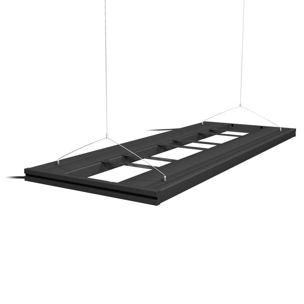 Aquatic Life G2 T5 HO Hybrid 4-Lamp Mounting System Fixture, Black 48-Inch