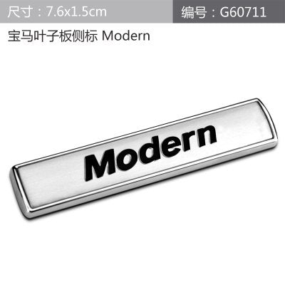 New Luxury Modern Urban Sport Refit Car Auto Fender Tailgate Emblem Badge Sticker for BMW E36 E30 E34 E39 E46 E60 E90 F10 F30