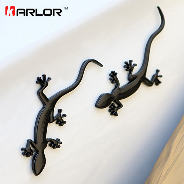 Gecko Lizard Quattero 3D Metal Ho Car Auto Motorcycle Logo Emblem Badge Car Styling Stickers Automobiles Car-Styling Accessories
