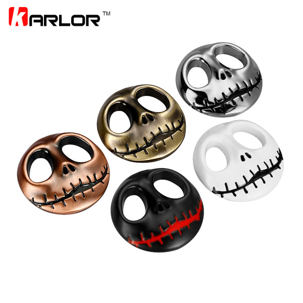 Pumpkin King Jack Skellington Skull 3D Metal Car Auto Motorcycle Badge Emblem Stickers Chrome Tuning Car-Styling Accessories