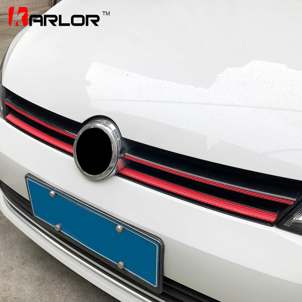Grille Front Bumper Carbon Fiber Protection Film Car Stickers And Decals Car-styling For Volkswagen VW Golf 7 MK7 Accessories