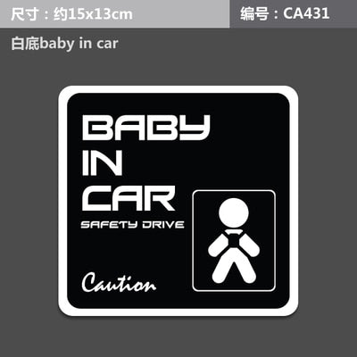 New Baby on Board Baby in Car Fashion Caution Safty Drive Warning Mark Logo Vinyl Ho Car Sticker Auto Decal Window Car-Styling