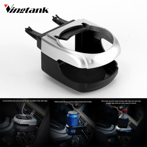 Vingtank Universal Car Bottle Holder Drink Holder Car Air Vent Clip-on Mount Multifunction Car Styling Cup Holder High Quality